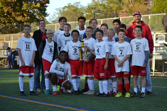Middle School Soccer Victory